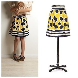 Anna Sui for Anthropologie Trampoline dot skirt for sale